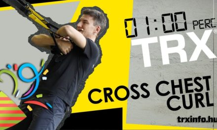 1 perc TRX – Cross chest curl 3..2…1…